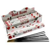 STAMFORD INCENSE- RED ROSE -BOX OF  6 PACKS